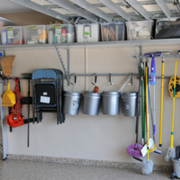 Columbia shelving in garage